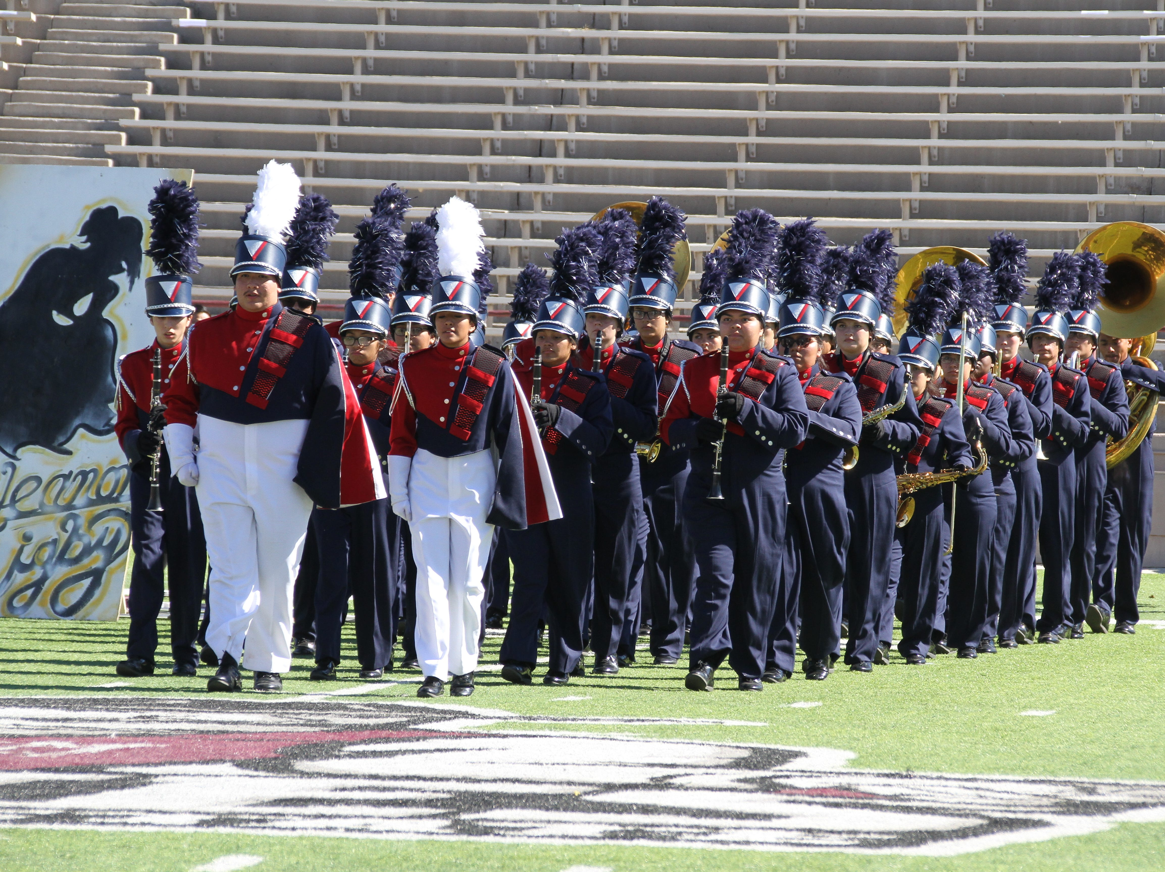 A thin blue line takes the field.