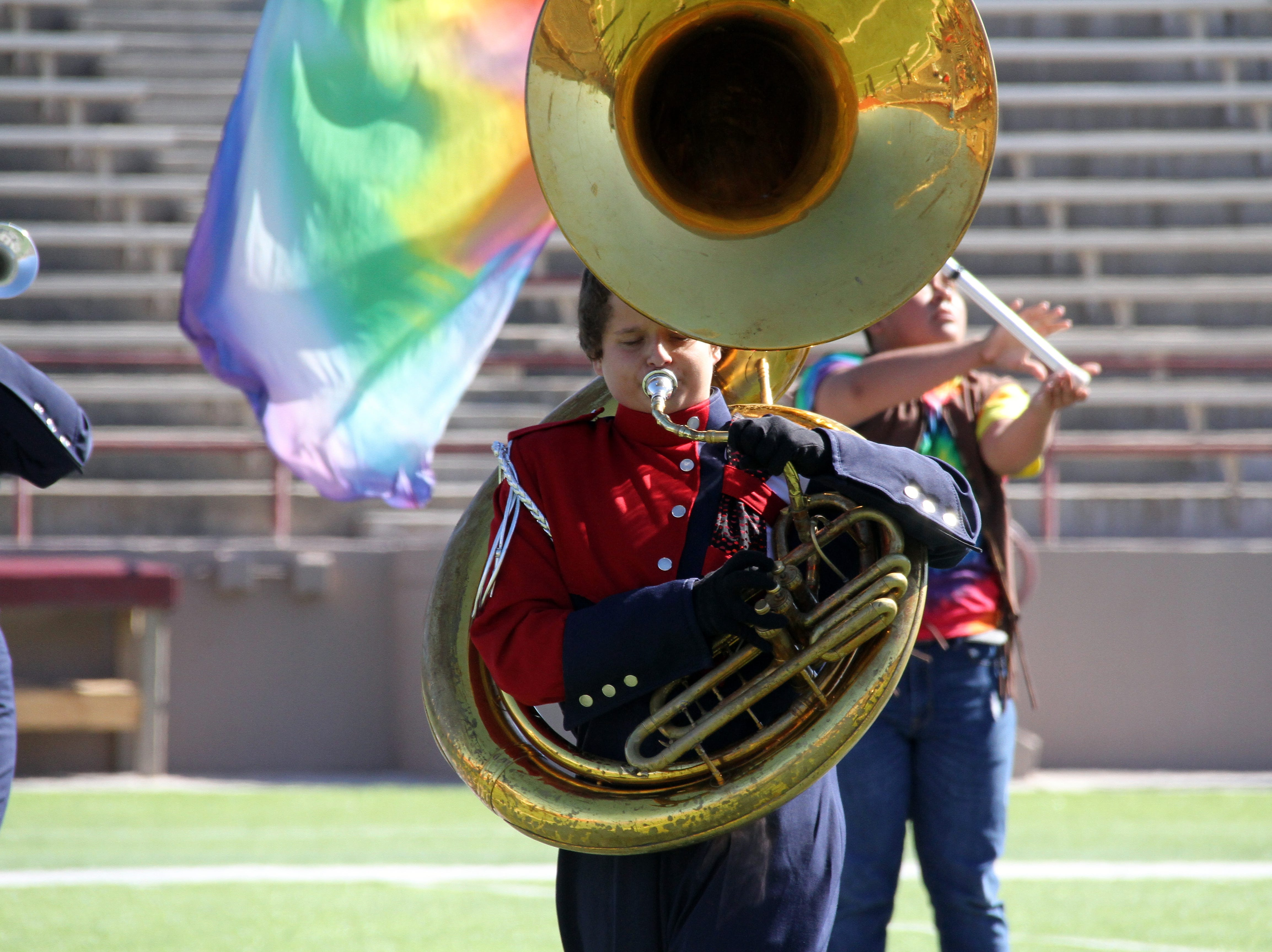 "Key instrument in the Wildcat's marching rendition of the Beatles' ""Magical Mystery Tour."""