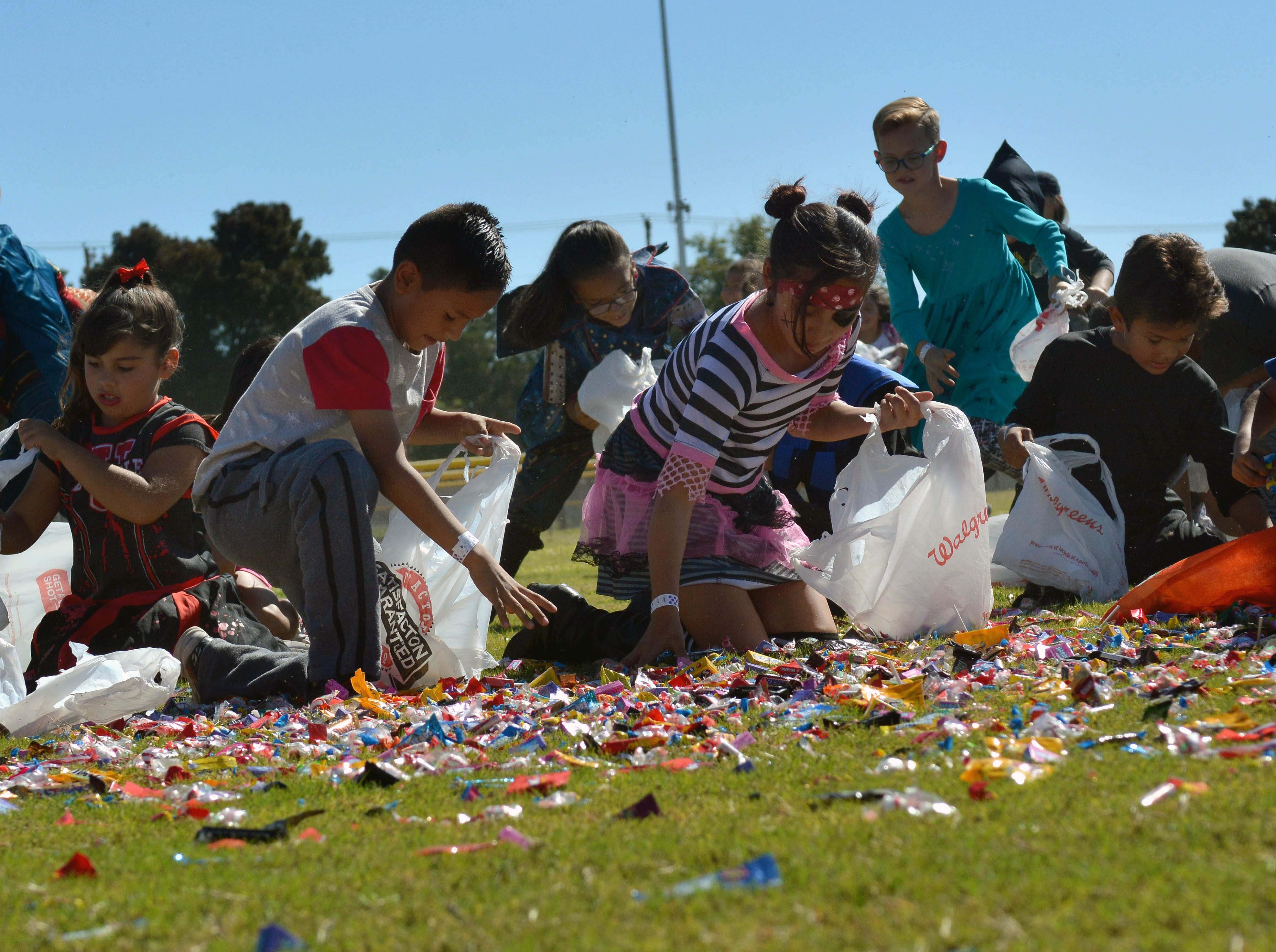 Candy for everyone during the 14th annual Great Pumpkin Candy Drop, held Sunday, Oct, 28 at Maag Park.
