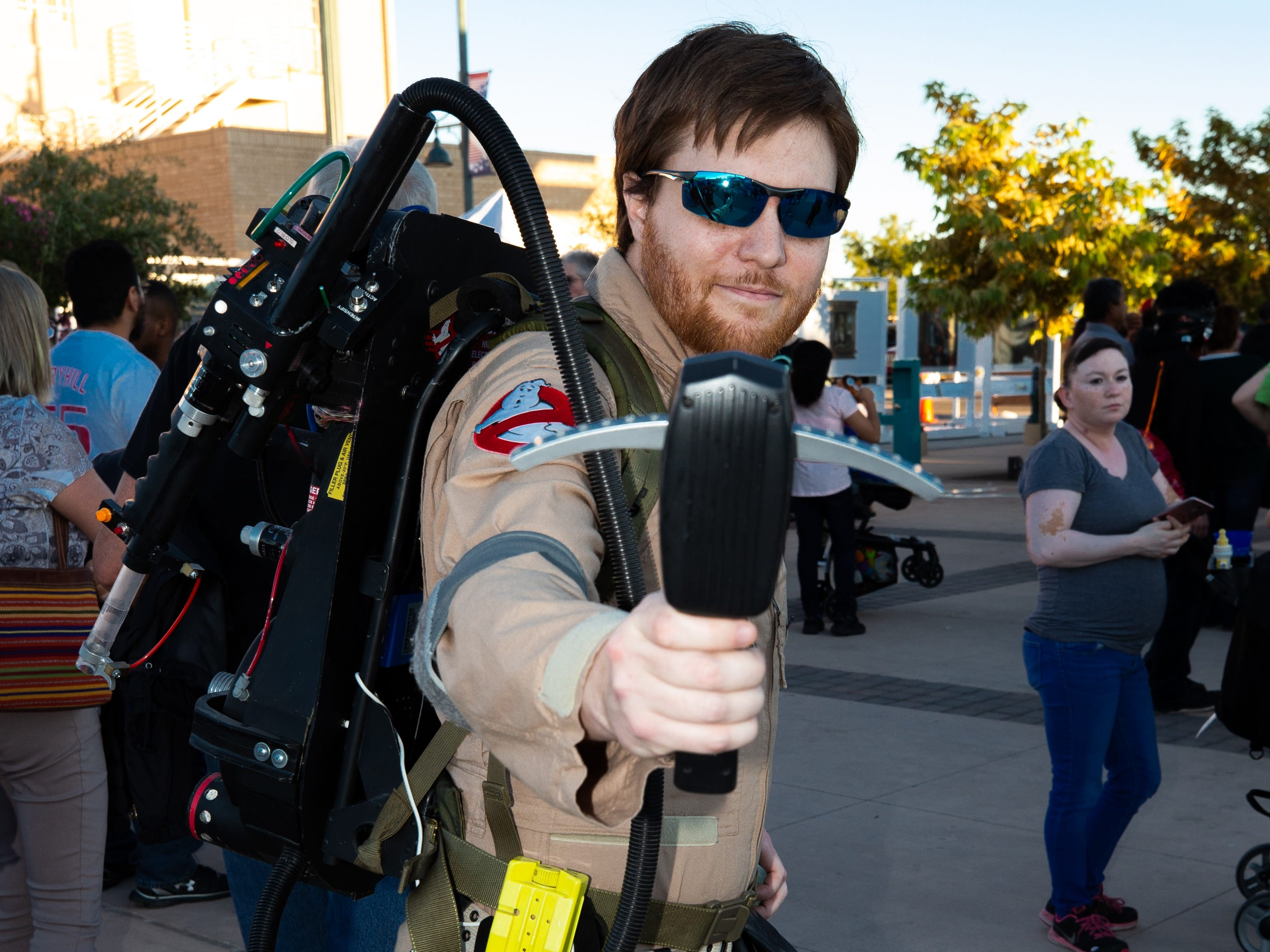 Ghostbuster Shawn Gealow at the 2018 Zombie Walk held on Saturday, Oct. 27, 2018.
