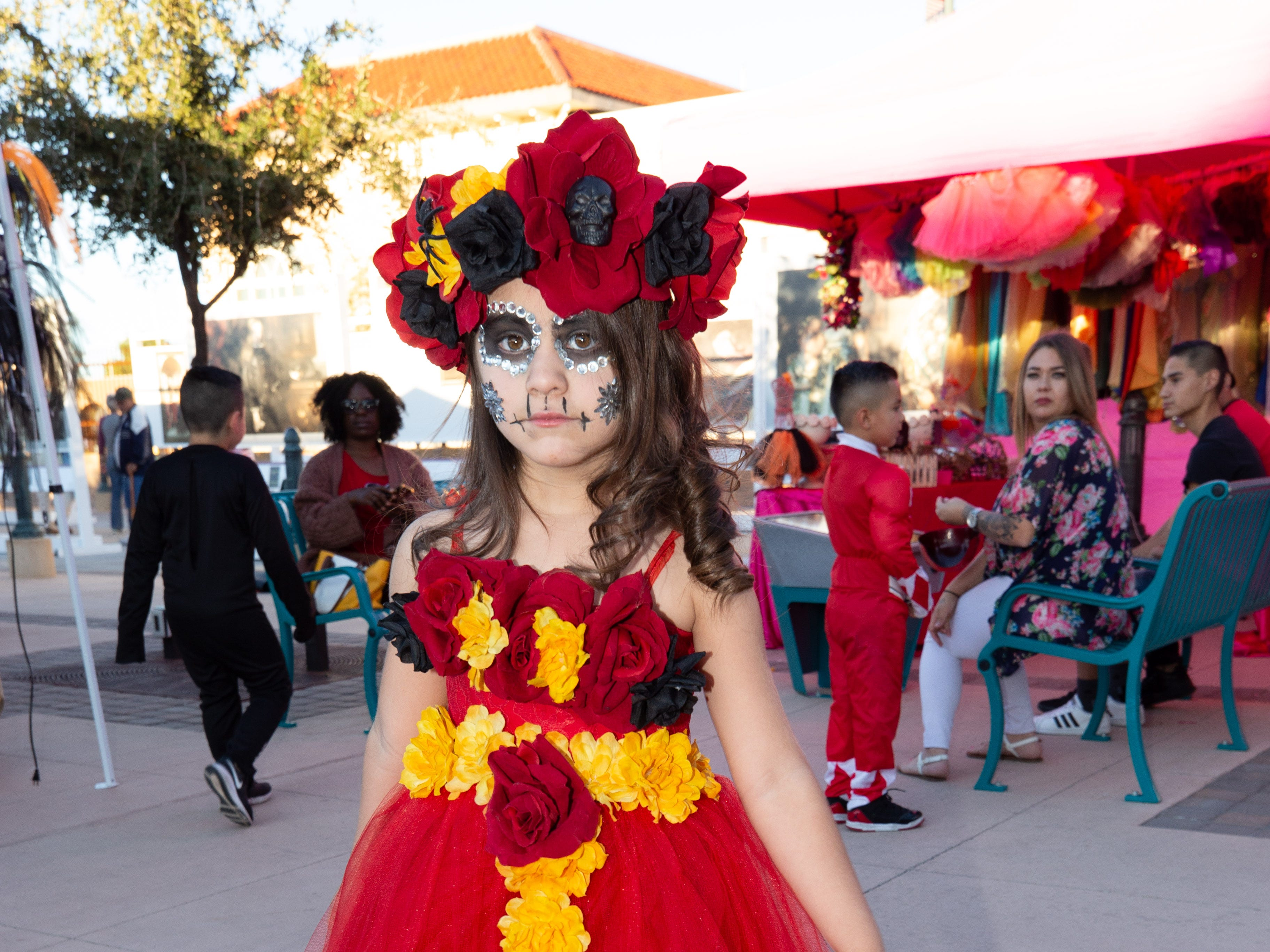 Luna Rosales, 5, in an Enchanted Fairyland costume at the 2018 Zombie Walk held on Saturday, Oct. 27, 2018.