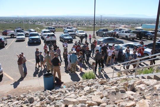 Around 100 members of the public and wildlife enthusiasts attended the releases on Saturday and Sunday andformed wings alongside the sheep trailers to help usher the sheep into the mountains.