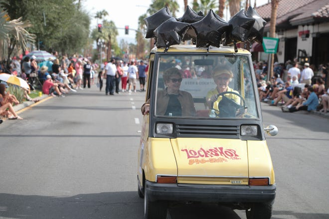 The annual Palm Desert Golf Cart Parade makes its way down El Paseo, Palm Desert, Calif., Sunday, October 28, 2018.