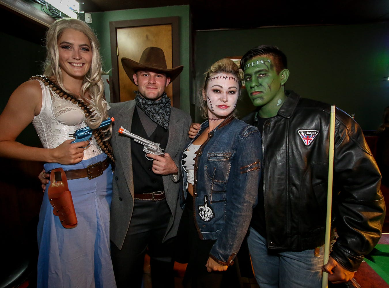 People get into the Halloween spirit at O'Riley's Irish Pub and Seville Quarter on Saturday, October 27, 2018.