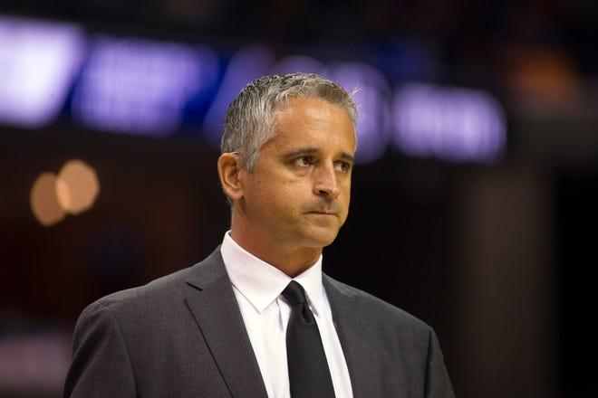 Oct 27, 2018; Memphis, TN, USA; Phoenix Suns head coach Igor Kokoskov during the first half against the Memphis Grizzlies at FedExForum. Mandatory Credit: Justin Ford-USA TODAY Sports