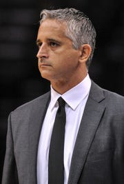 Oct 27, 2018; Memphis, TN, USA; Phoenix Suns head coach Igor Kokoskov looks on during the first half against the Memphis Grizzlies at FedExForum. Mandatory Credit: Justin Ford-USA TODAY Sports