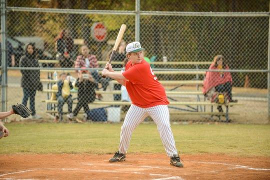 A member of the Alternative Baseball Organization prepares to bat.