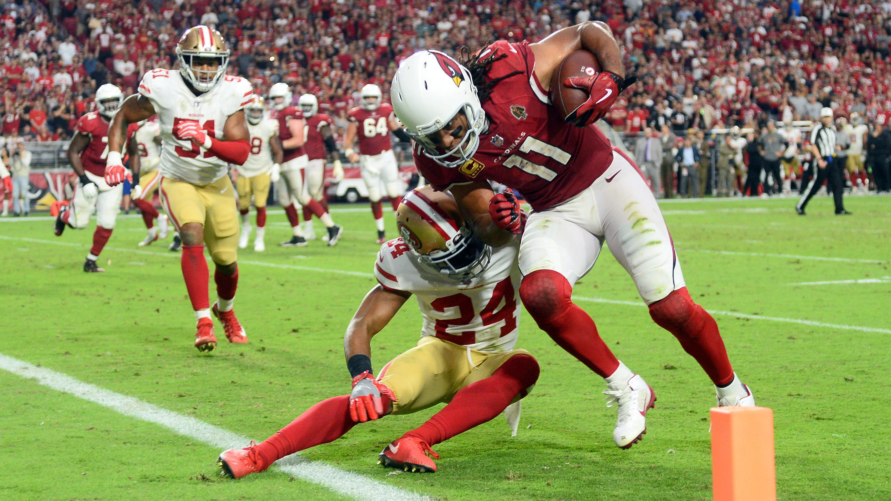 Larry Fitzgerald spiked the ball for the first time out of frustration with  son 5f565b1e1