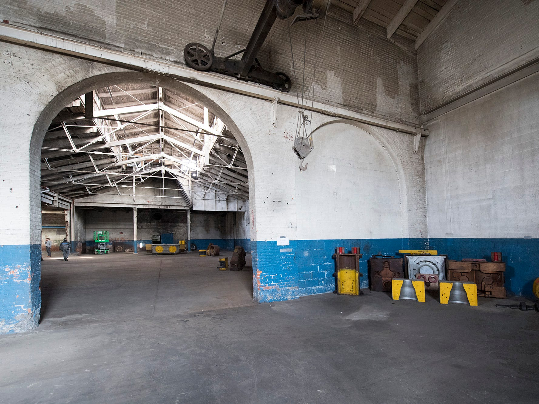 Inside the foundry building at 145 North Hartley Street in York. The 54,000-square-foot building has been gutted and refurbished however, no initial plans have been made for the site.