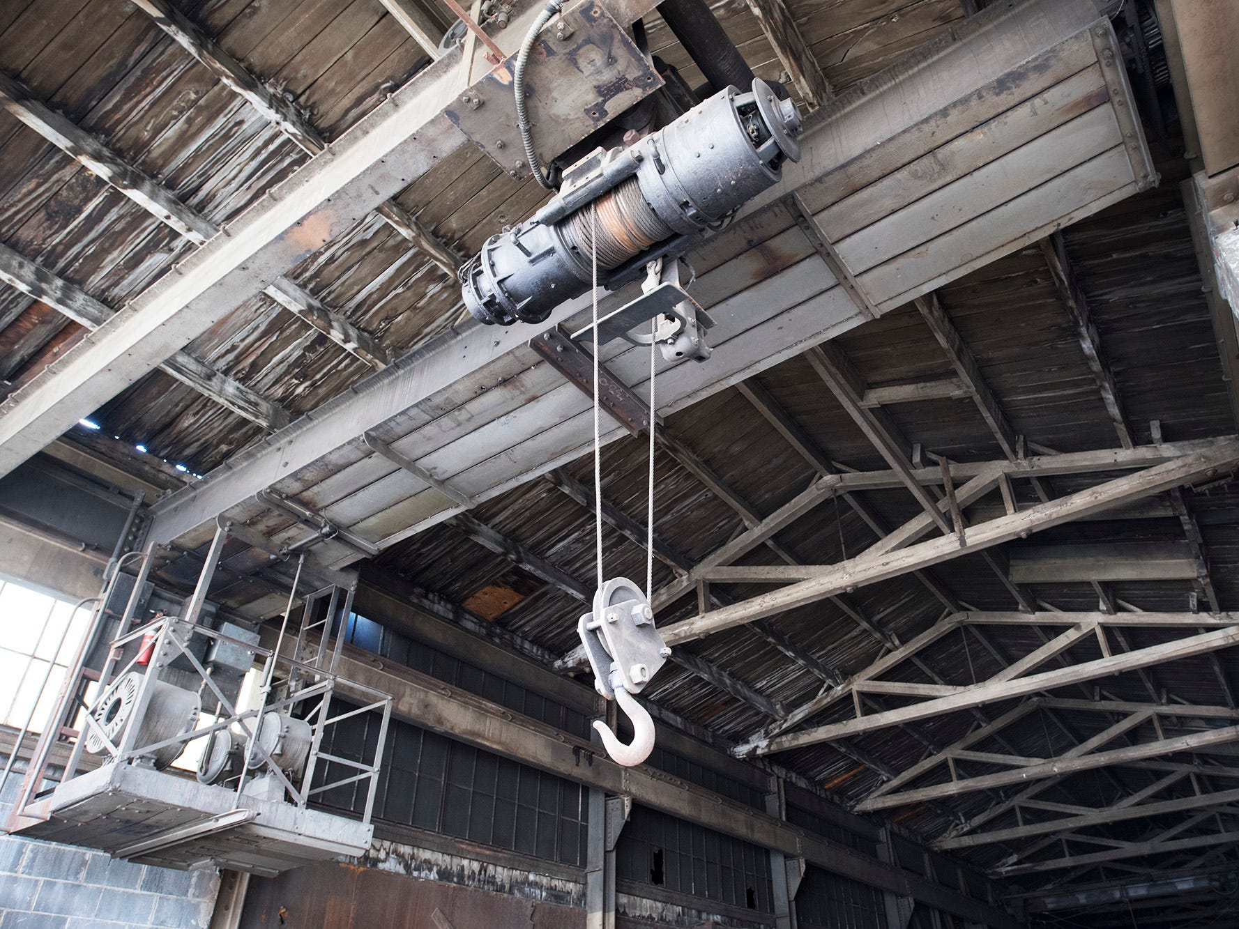 Some of the cranes are still wired for D.C. power inside the foundry building at 145 North Hartley Street in York. The 54,000-square-foot building has been gutted and refurbished however, no initial plans have been made for the site.