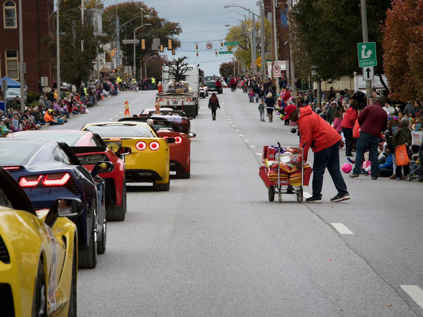 The 69th Annual York Halloween Parade presented by York Traditions Bank Sunday in York works its way east on Market Street.