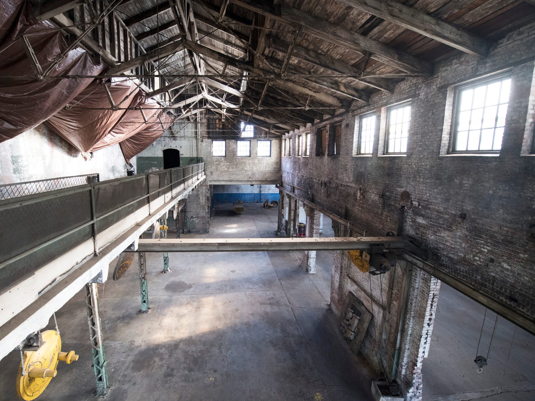 Looking down from the second floor inside the foundry building at 145 North Hartley Street in York. The 54,000-square-foot building has been gutted and refurbished however, no initial plans have been made for the site.