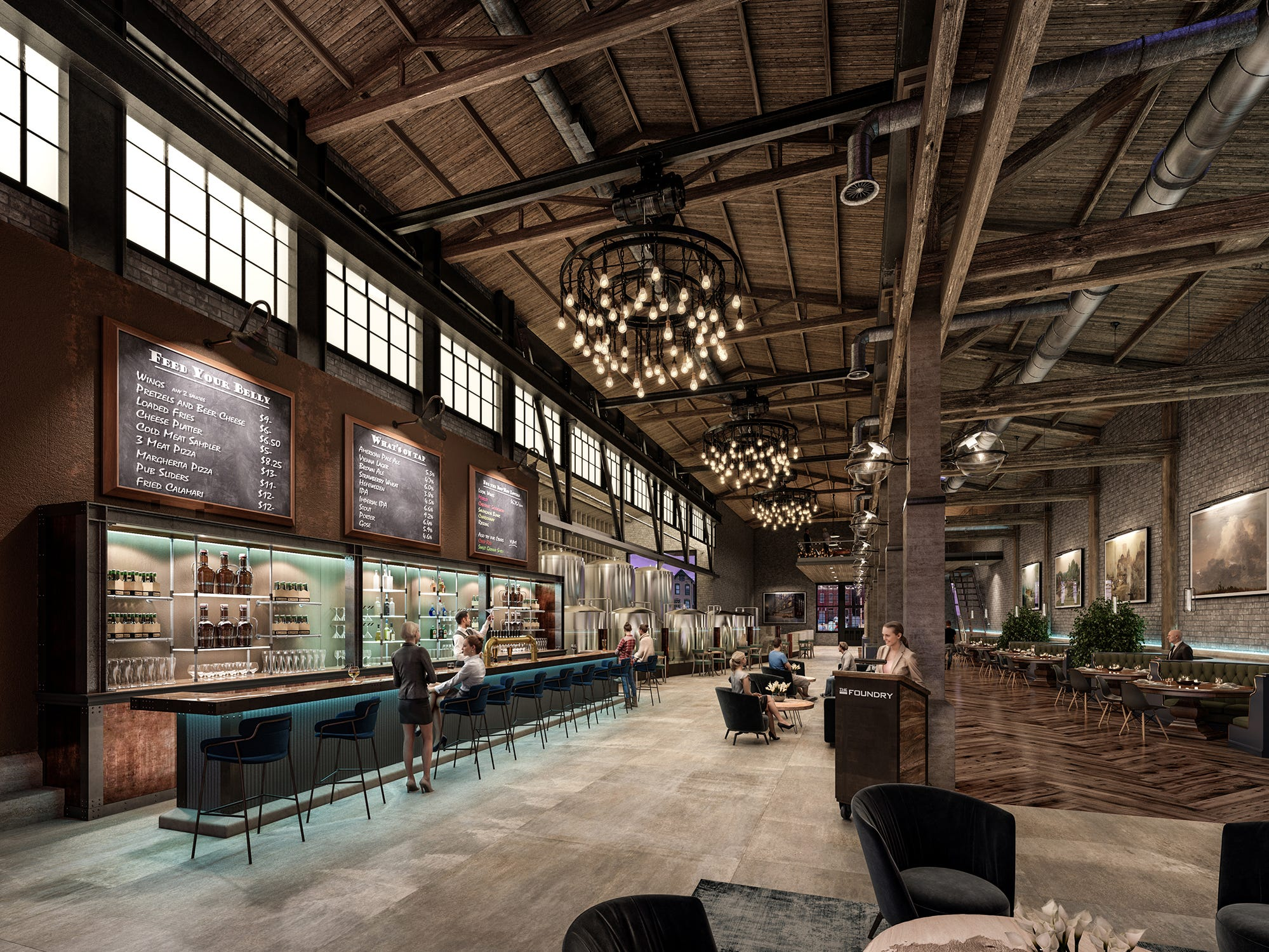 This is an artist's rendition of what the interior of the foundry building could look like.