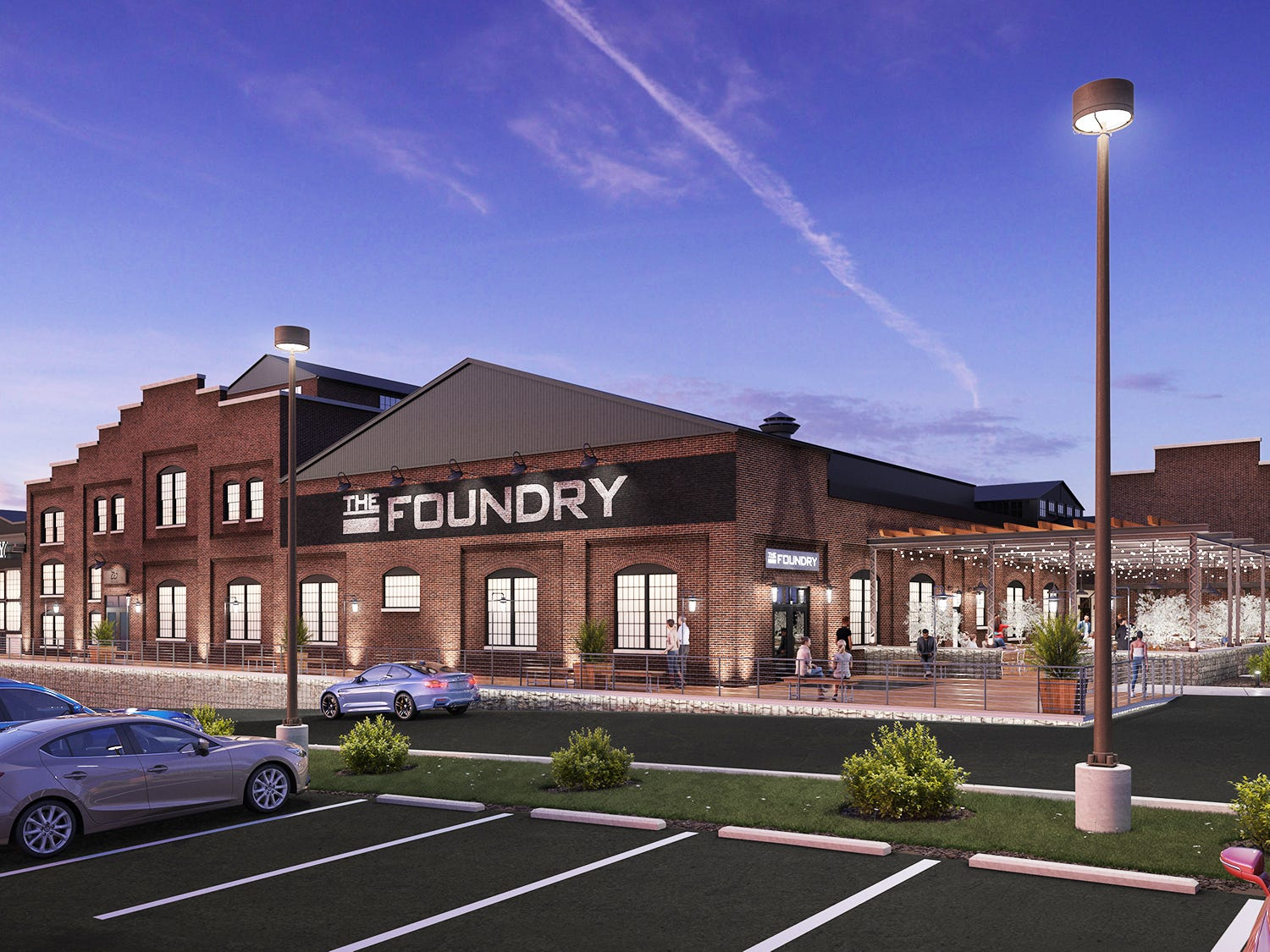 This is an artist's rendition of what the foundry building exterior could look like.