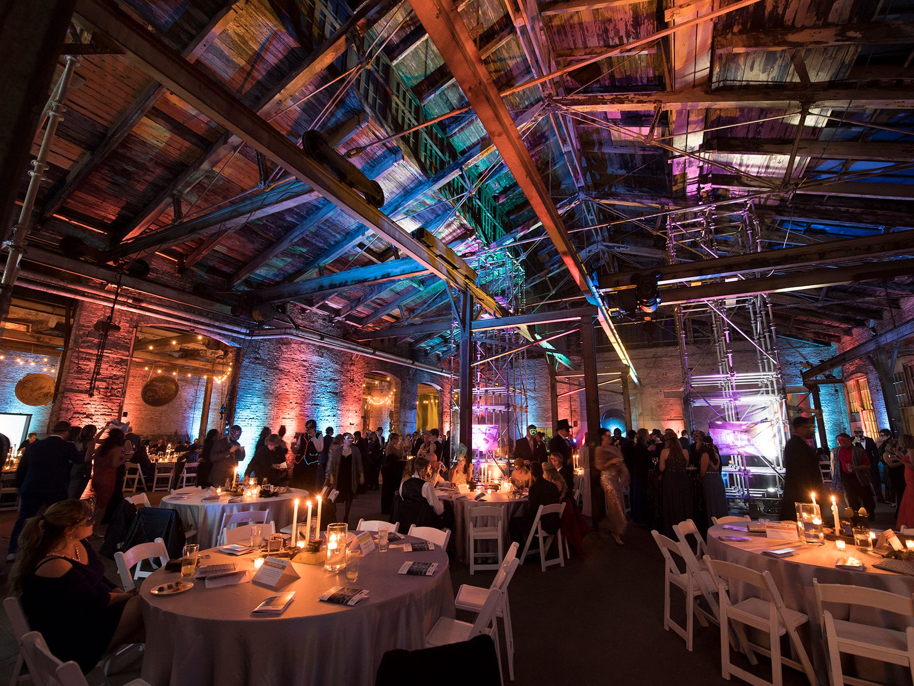 Downtown Inc.'s Fifth Annual Masquerade Ball was held at 145 N. Hartley Street Saturday, the site of the former Pewtarex Foundry and York Manufacturing Company's ice-machine making plant.