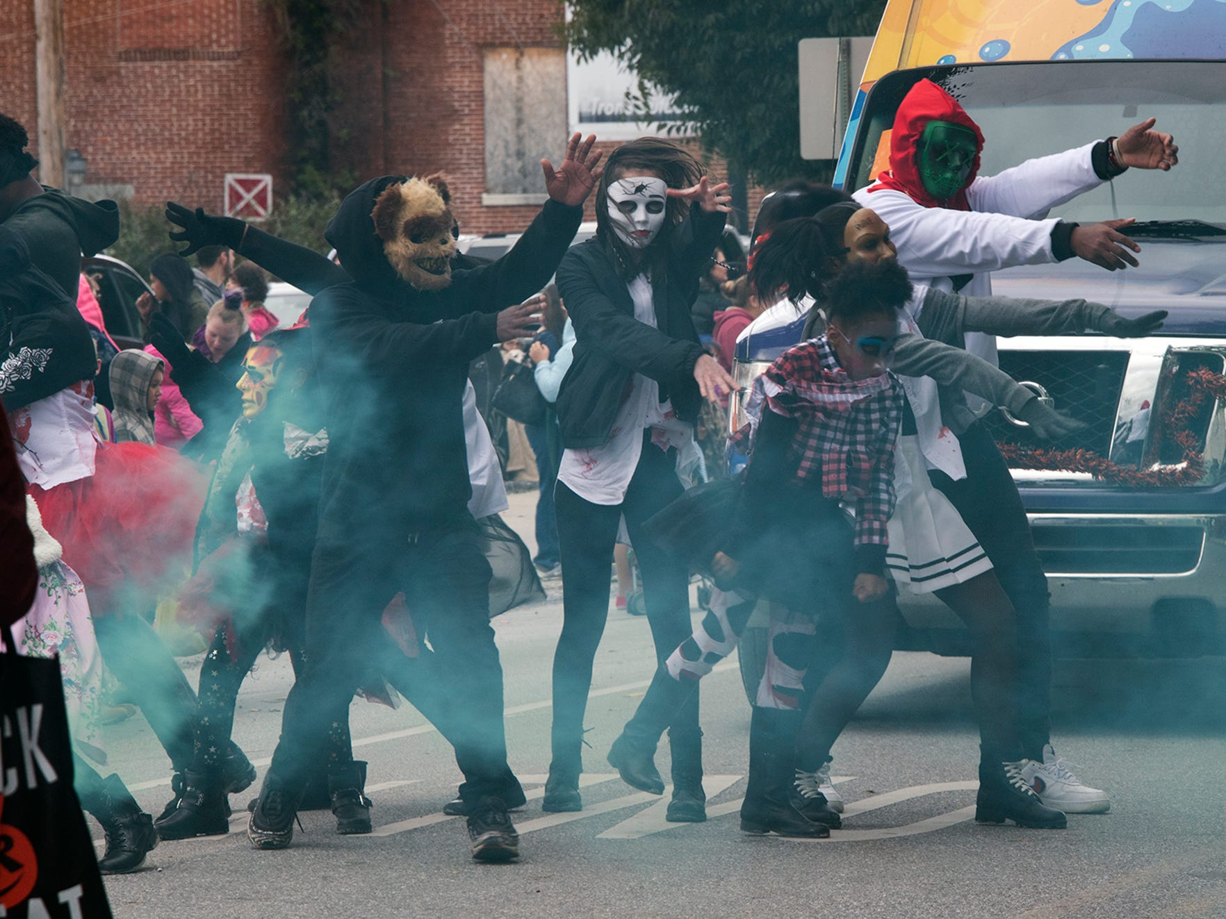 Kat Choreography LLC performs during the 69th Annual York Halloween Parade.