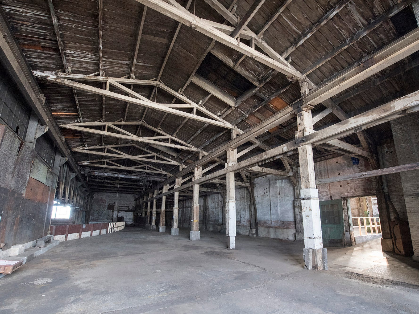 In the distance, a railroad spur enters the foundry building at 145 North Hartley Street in York. The 54,000-square-foot building has been gutted and refurbished however, no initial plans have been made for the site.