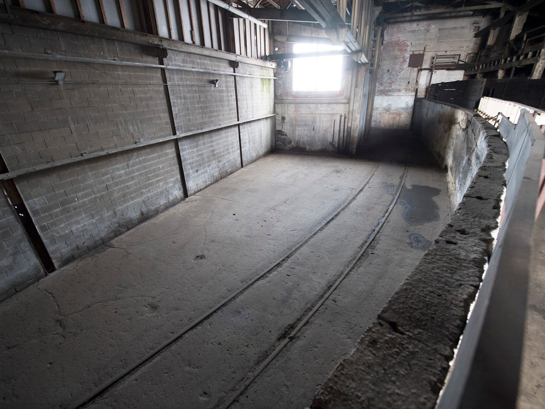A railroad spur enters the foundry building at 145 North Hartley Street in York. The 54,000-square-foot building has been gutted and refurbished however, no initial plans have been made for the site.