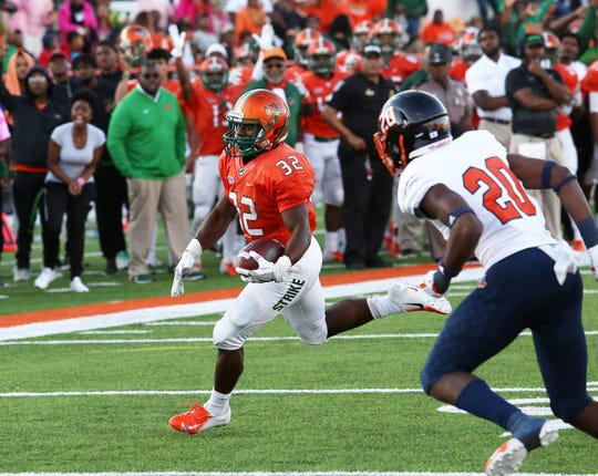 FAMU running back DeShawn Smith rushed for 116 yards and scored a touchdown in the 38-3 win over Morgan State.
