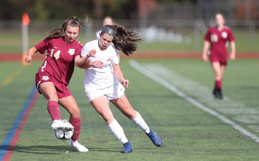 Arlington defeats North Rockland 3-1 in overtime to claim the girls Class AA soccer sectional title at Arlington High School in Freedon Plains on Sunday, October 28, 2018.