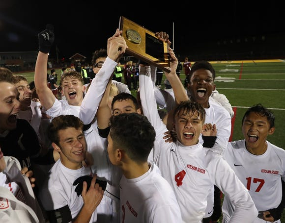 Ketcham defeats Ossining 2-1 in the boys class AA sectional soccer finals at Lakeland High School in Shrub Oak on Saturday, October 27, 2018.