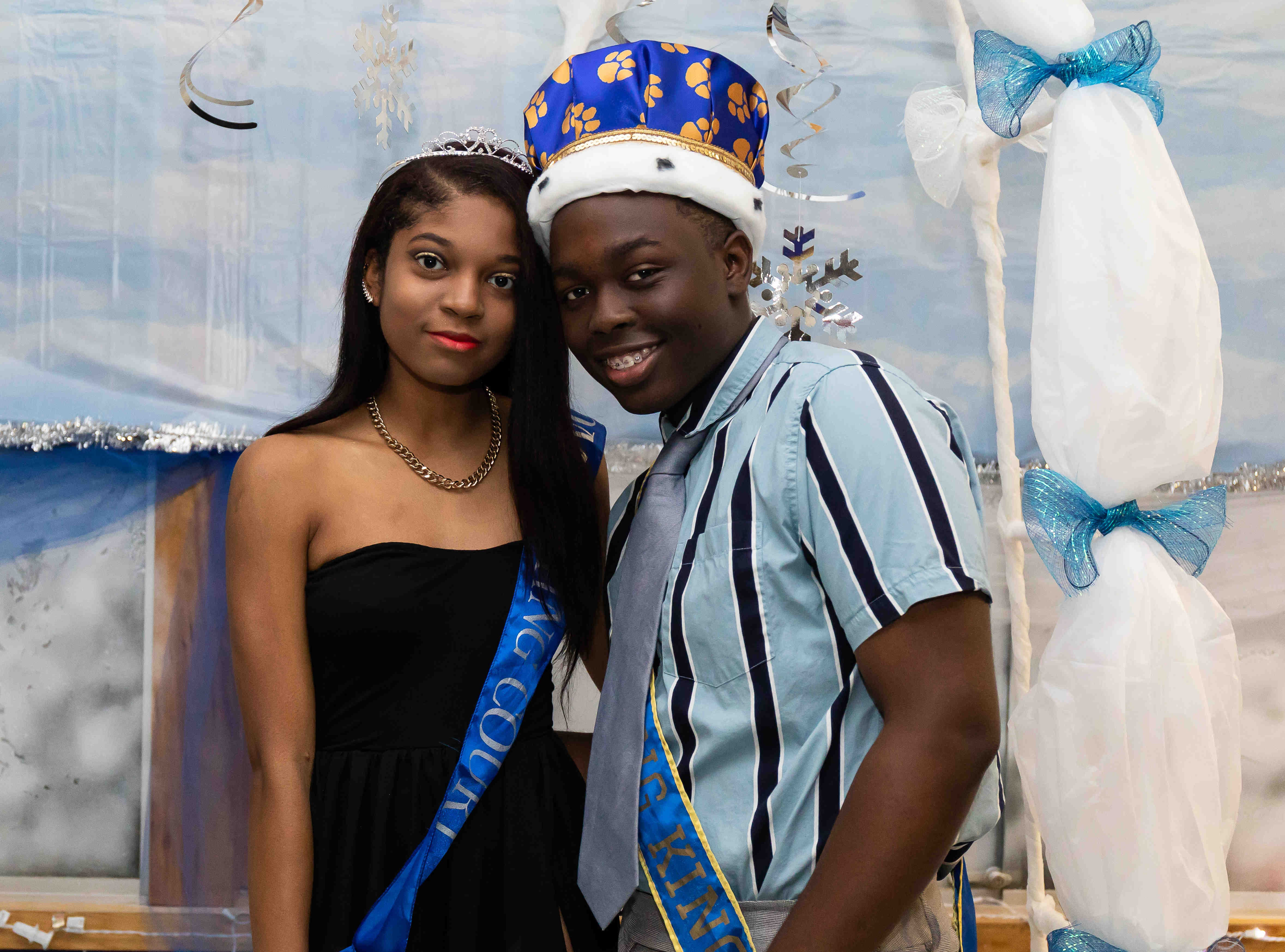 Students attend Alexis I. duPont High School homecoming dance Saturday, Oct. 27, 2018 at the school.