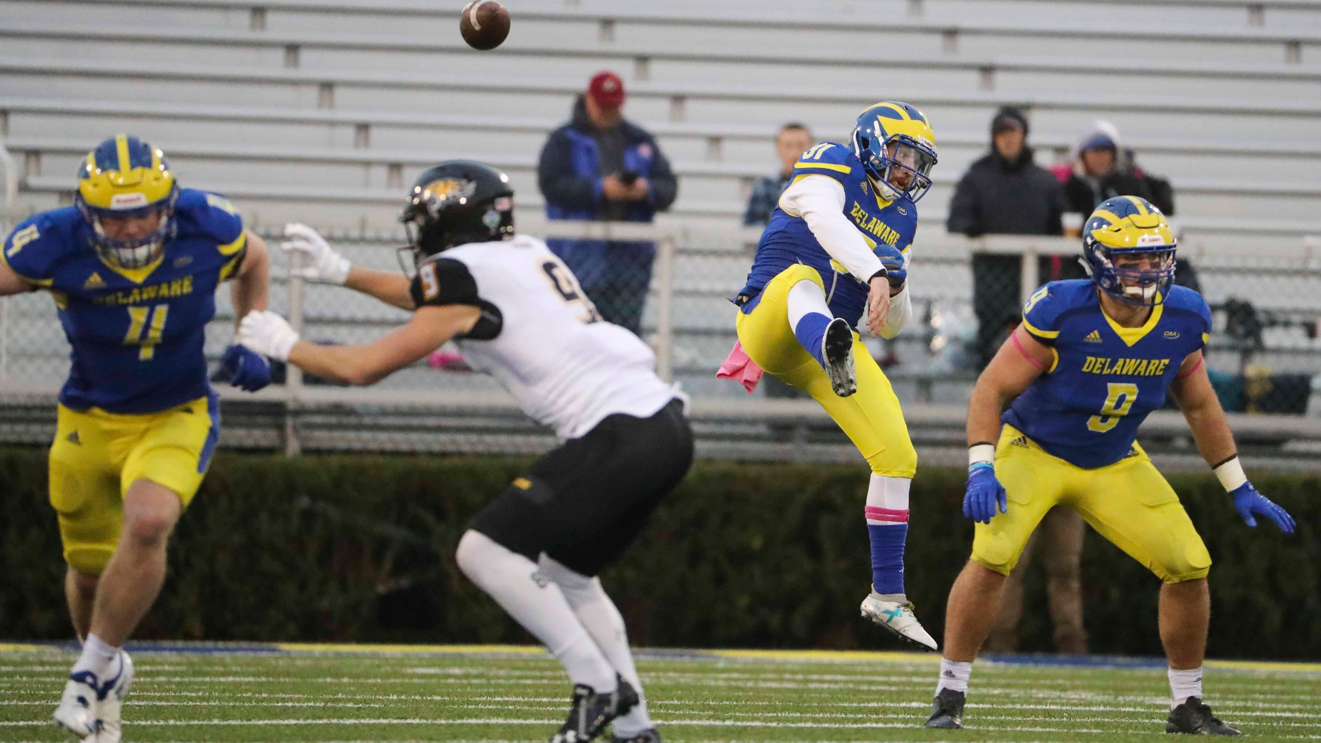 University of Delaware-Towson 5 Takeaways: Blue Hens win despite many miscues
