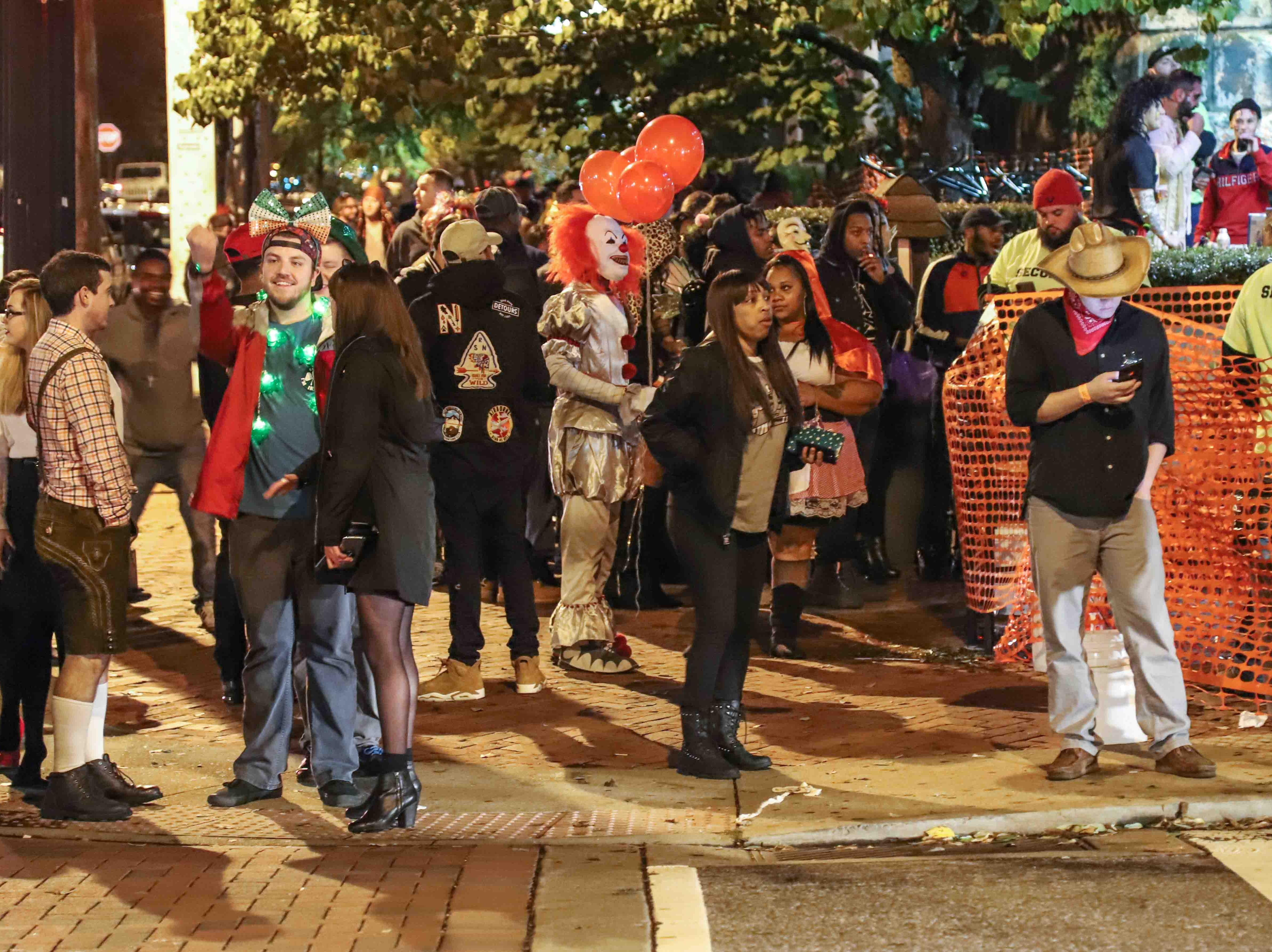 Crowds in Trolley Square for the annual  Halloween Loop Saturday, Oct. 27, 2018, in Wilmington.