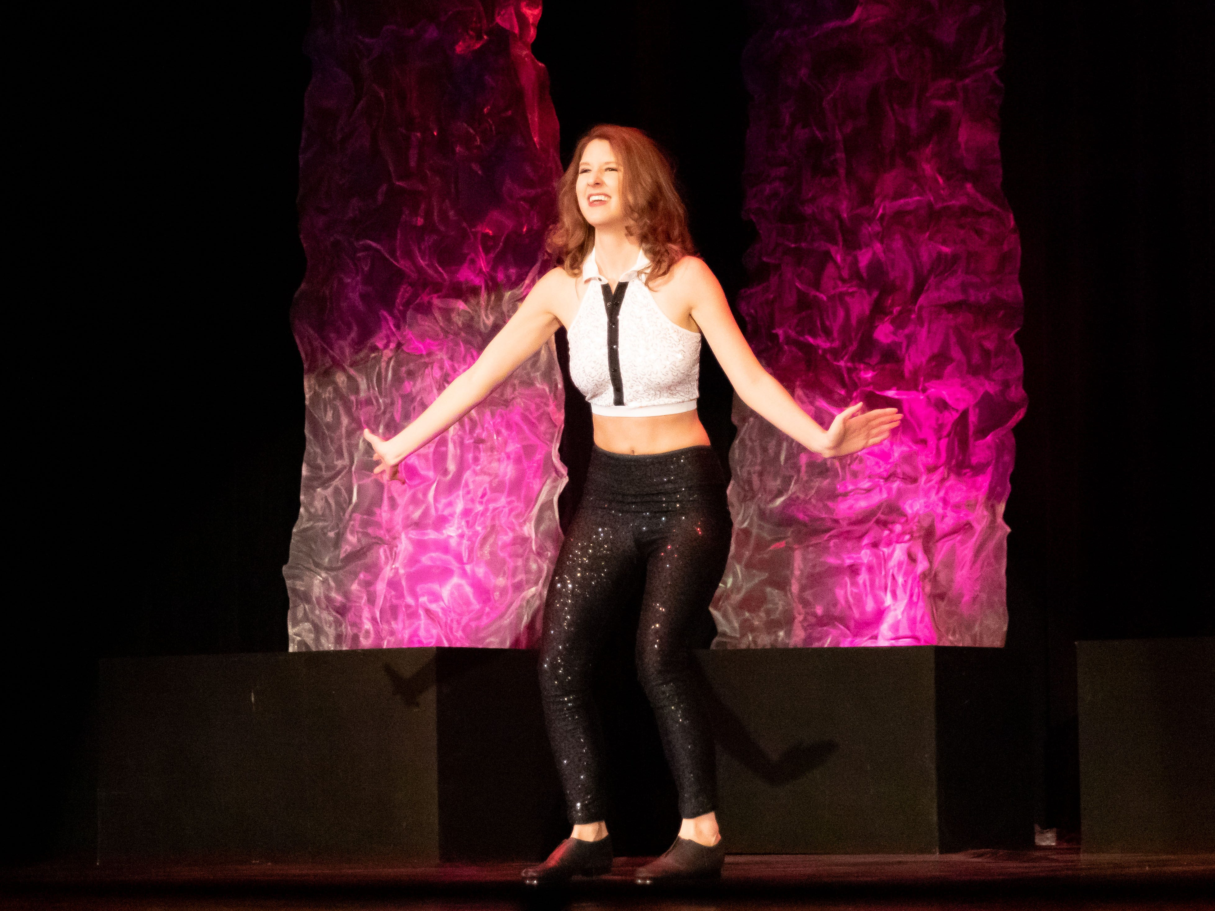 Miss Wisconsin Rapids Area 2018 Hannah Ashbeck performs during the 2019 Miss Wisconsin Rapids Area Scholarship Pageant on Saturday, Oct. 27, 2018, at the Performing Arts Center of Wisconsin Rapids.