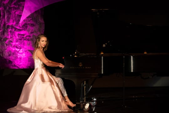 """Danielle Moon performs """"The Holberg Suite"""" on piano in the Talent competition during the 2019 Miss Wisconsin Rapids Area Scholarship Pageant on Saturday, Oct. 27, 2018, at the Performing Arts Center of Wisconsin Rapids."""