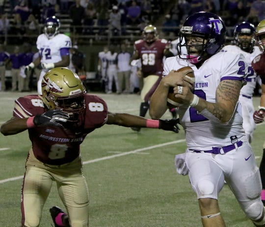 Tarleton State made what turns out to be its final appearance at Memorial Stadium last season in a 35-34 overtime victory against Midwestern State. Tarleton is becoming a Division I program in 2020.