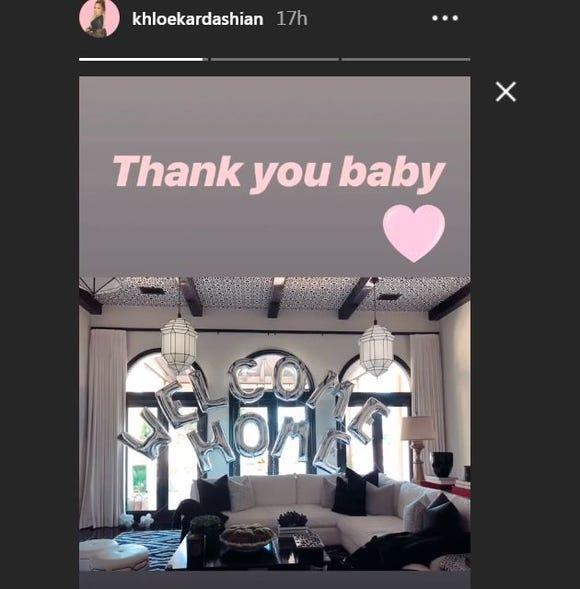 Khloe Kardashian Instagram story
