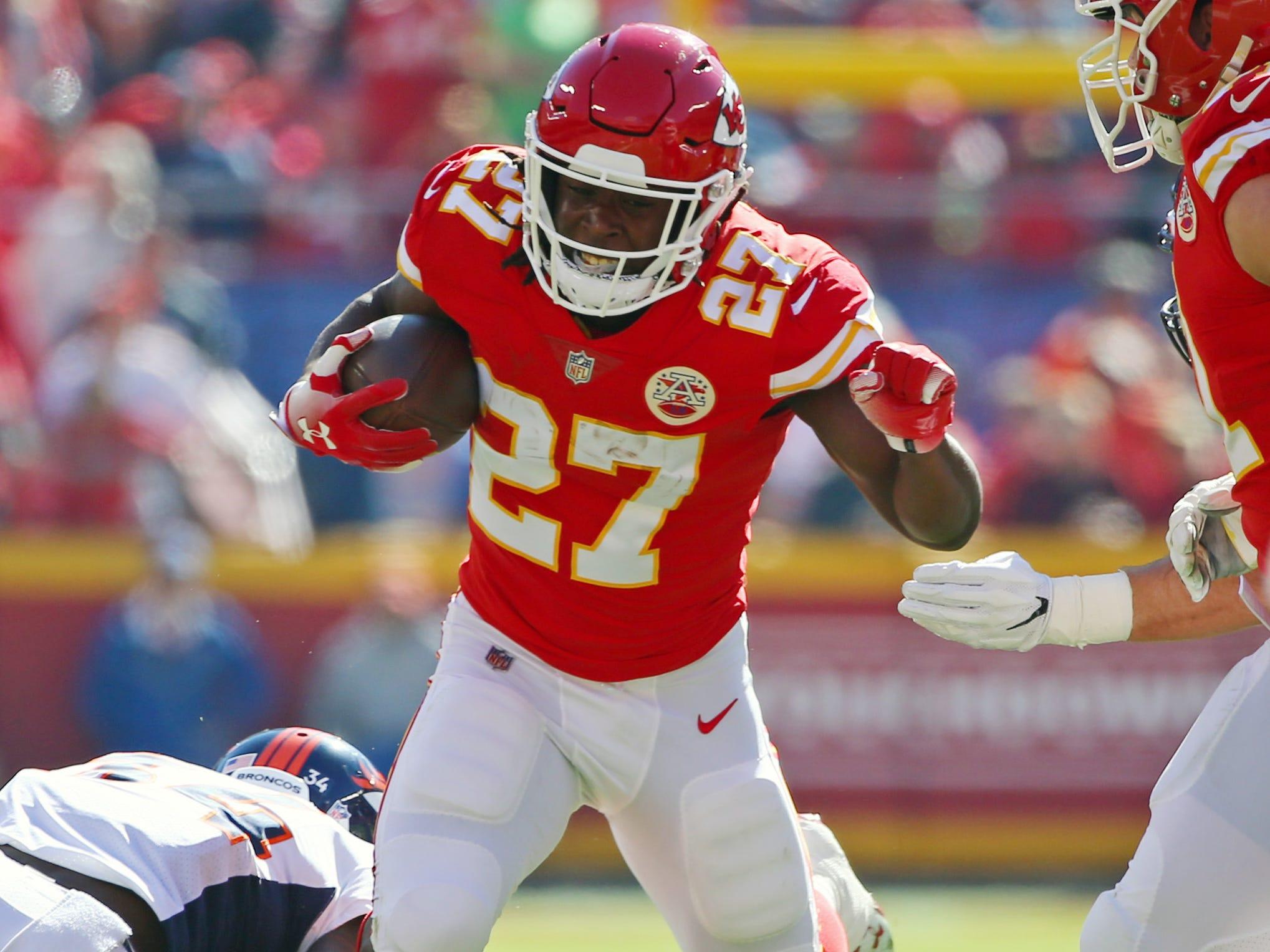Chiefs running back Kareem Hunt
