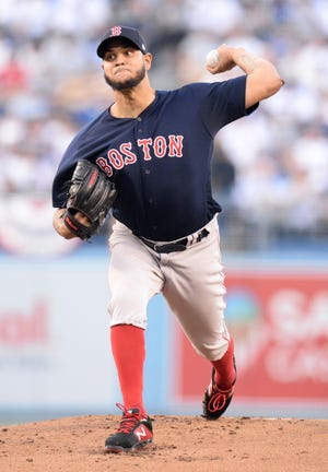 Eduardo Rodriguez tossed 5 2/3 innings for the Red Sox in Game 4.