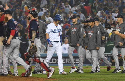 Mlb World Series Boston Red Sox At Los Angeles Dodgers