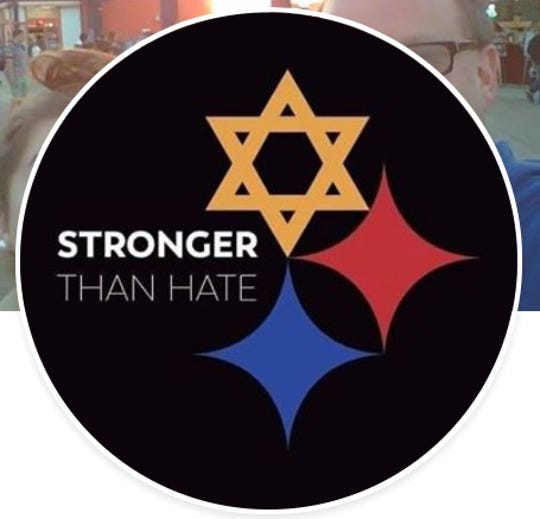 A Stronger Than Hate graphic used to replace their profiles by friends, family and supporters of the victims of the shooting at the Tree of Life synagogue in Pittsburgh, Pennsylvania.