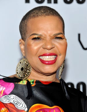 """Author Ntozake Shange, photographed in 2010 at a screening of """"For Colored Girls"""" at the Ziegfeld Theatre in New York."""