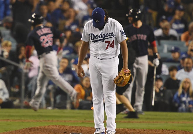 Dodgers closer Kenley Jansen was not able to save Game 4 of the World Series.