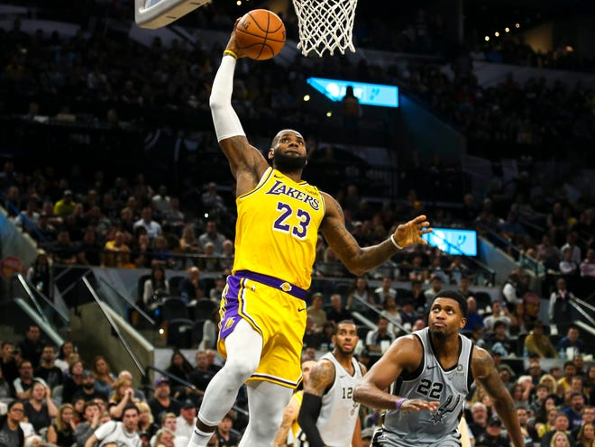 LeBron James could climb as high as fourth on the all-time scoring list this season.