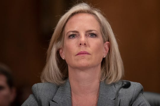 Homeland Security Secretary Kirstjen Nielsen testifies during a hearing of the Senate Committee on Homeland Security & Governmental Affairs, on Capitol Hill, Oct. 10, 2018 in Washington.