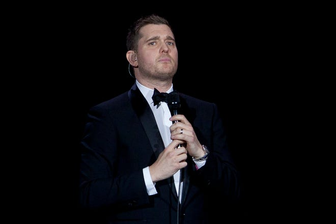 "Canadian singer Michael Buble opened up about his 5-year-old son Noah's battle with cancer on ""Carpool Karaoke"" with James Corden Saturday."