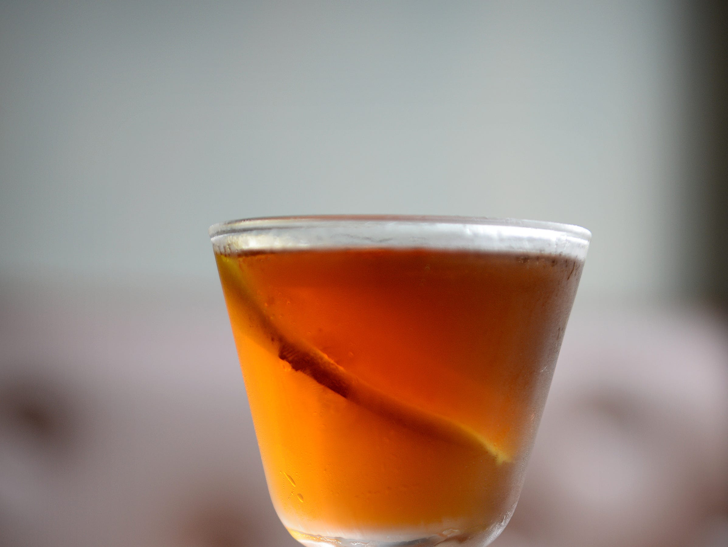 Little Jumbo's Revolver is a variation on a Manhattan with bourbon, coffee liqueur and orange bitters.