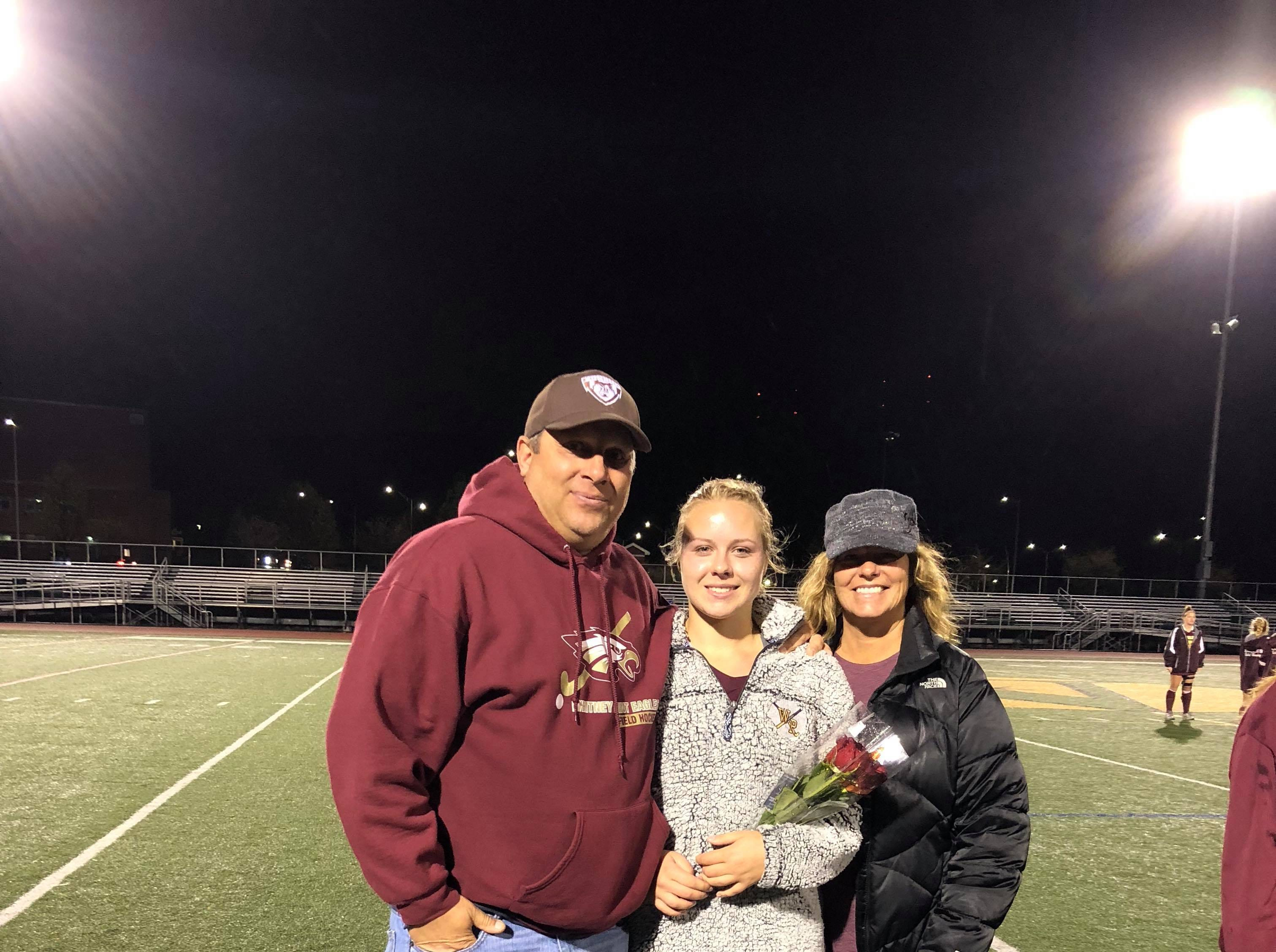 Olivia Driscoll (#22), Mark and Christy Driscoll
