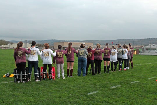 In October, the mothers of Whitney Point's field hockey seniors played a mock game with their daughters' gear.