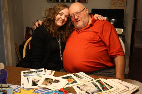 Vestal artist Ramona Kacyvenski and her father-in-law, David Kacyvenski, have a passion for making handmade cards.