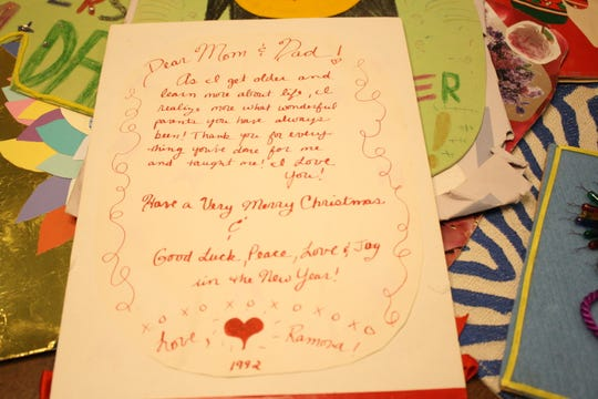 """As I get older and learn more about life, I realize more what wonderful parents you have always been,"" Vestal artist Ramona Kacyvenski wrote in a Christmas card to her parents in 1992."