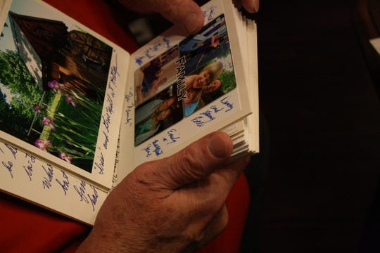 Hilltop resident David Kacyvenski gifts many Hilltop residents with handmade cards decorated with his own photography.