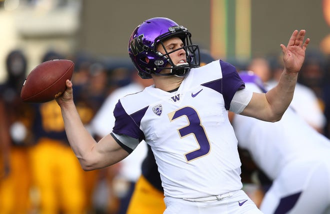 Jake Browning was removed from Saturday's game at California for just two series. But one of those series ended when his replacement, Jacob Haener, threw a pick-six interception that allowed the Bears to win.
