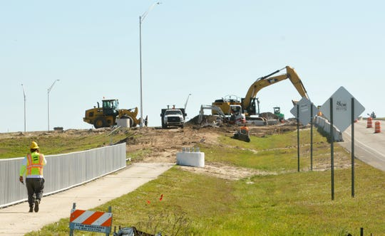 Heavy machinery is shaping the new Interstate 95 interchange at Viera Boulevard.