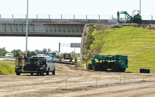 Viera Boulevard Overpass Ramp Construction